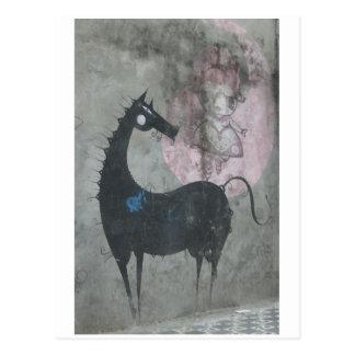 Cartão do cavalo dos grafites