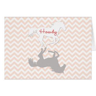 Cartão do cavalo Howdy