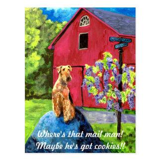 Cartão do celeiro de Airedale