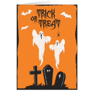Cartão do cemitério do Dia das Bruxas