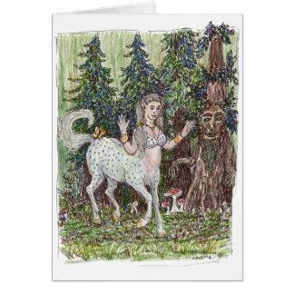 Cartão do centauro da dança