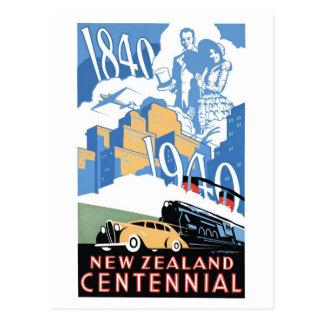 Cartão do Centennial de Nova Zelândia