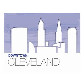 Cartão do centro de Cleveland