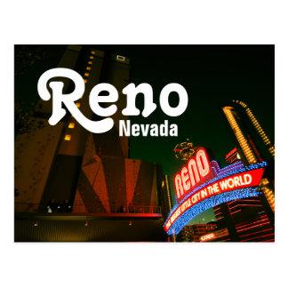 Cartão do centro de Reno - pico de Whitney