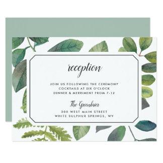 Cartão do cerco da recepção de Botanica