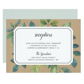 Cartão do cerco da recepção de Botanica Kraft
