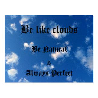 cartão do céu nebuloso