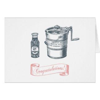 Cartão do chá de fraldas