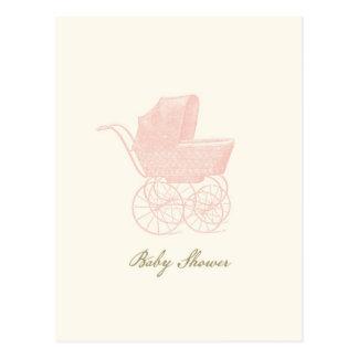 Cartão do chá de fraldas cartoes postais