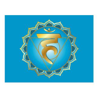 cartão do chakra do vishuddhi ou da garganta