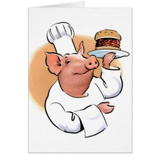 Cartão do CHURRASCO do porco