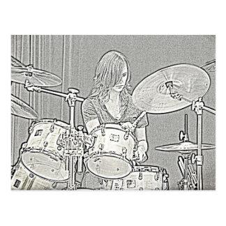 Cartão do cilindro ou do baterista