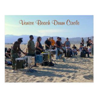 Cartão do círculo do cilindro da praia de Veneza!