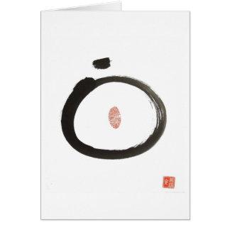 Cartão do círculo do zen