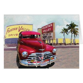 Cartão do clássico de Califórnia