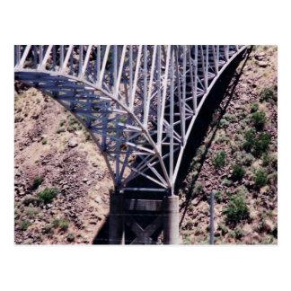 Cartão do close up da ponte do Rio Grande