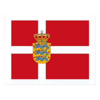 Cartão do COA de Dinamarca Flagw