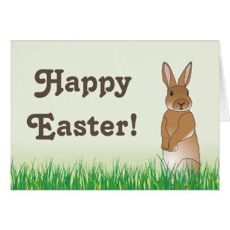 Cartão do coelhinho da Páscoa de Brown