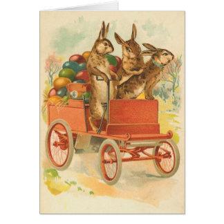 Cartão do coelhinho da Páscoa do vintage