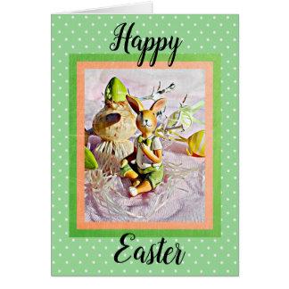 Cartão do coelho de coelho do felz pascoa