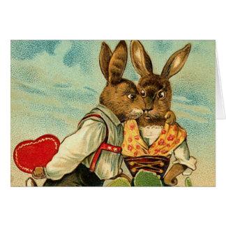Cartão do coelho de Hunny do vintage