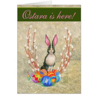 Cartão Cartão do coelho de Ostara