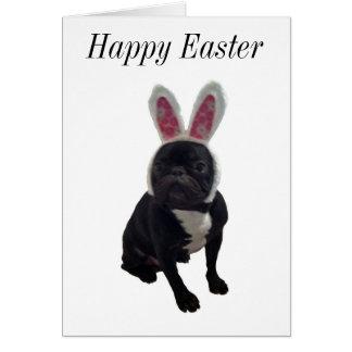 Cartão do coelho do buldogue francês do felz