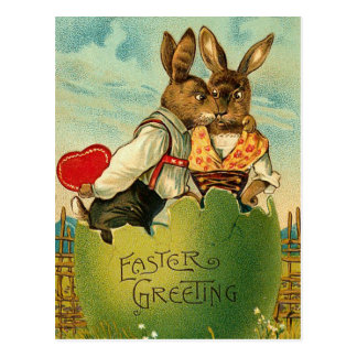 Cartão do coelho do mel da páscoa