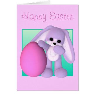 Cartão do coelho do ovo de felz pascoa
