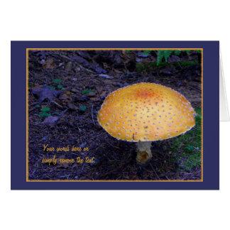 Cartão do cogumelo