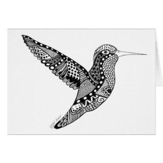 Cartão do colibri