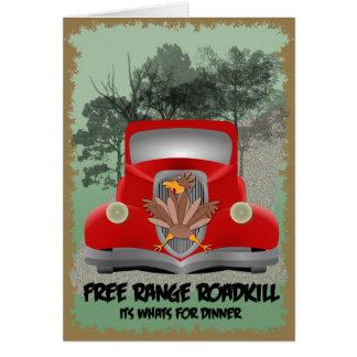 Cartão do comensal de Roadkill