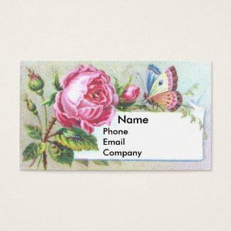 Cartão do comércio do Victorian do rosa & da