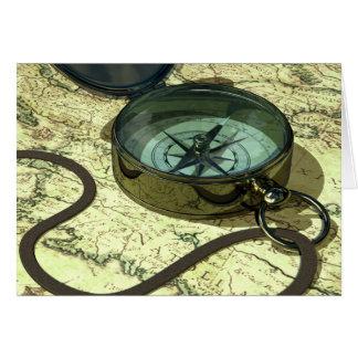 Cartão do compasso e do mapa