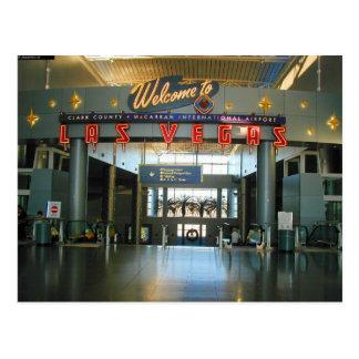 Cartão do Concourse D de Las Vegas do aeroporto de