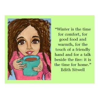 Cartão do conforto do inverno