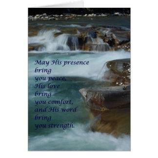 cartão do conforto, palavras de incentivo