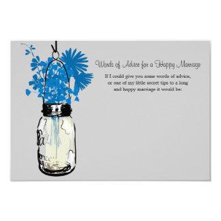 Cartão do conselho do casamento - frasco de convite 8.89 x 12.7cm
