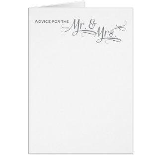 Cartão do conselho do casamento na pia batismal de