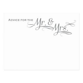 Cartão do conselho do casamento na pia batismal de cartão postal