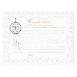 Cartão do conselho do chá de fraldas de