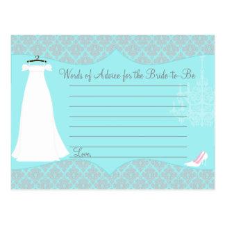 Cartão do conselho do chá de panela do damasco