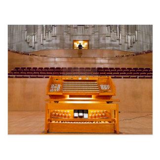 cartão do console do órgão