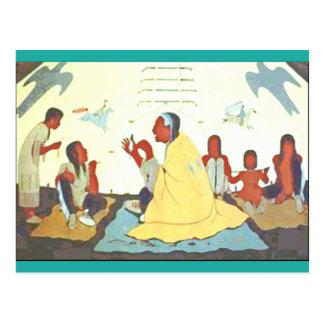 Cartão do contador de histórias de Lakota Cartão Postal