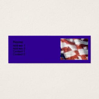Cartão do contato da bandeira