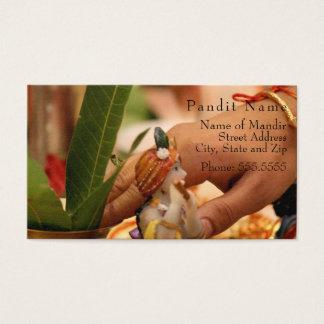 Cartão do contato de Pandit (lugar & serviços do