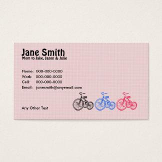 Cartão do contato de três triciclos
