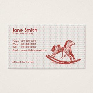 Cartão do contato do cavalo de balanço do vintage