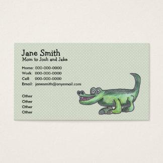 Cartão do contato dos desenhos animados de