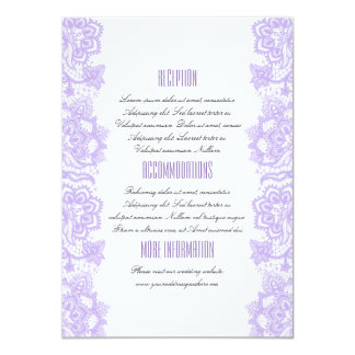 Cartão do convidado da informação do casamento do